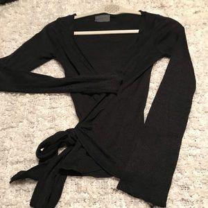 Michael Stars knit wrap top size small